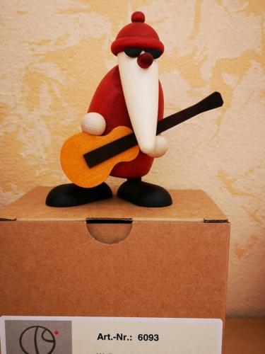 Weihnachtsmann mit Gitarre