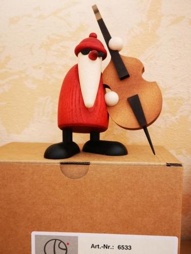 Weihnachtsmann mit Cello